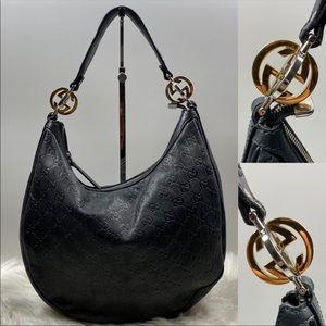 ❇️GUCCI❇️ all Leather hobo Gucci Shoulder bag